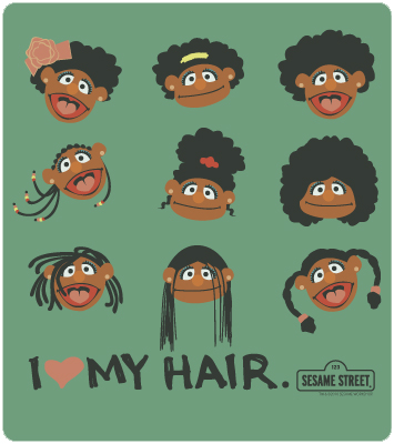 I-love-My-Hair-Sesame-Street-Green
